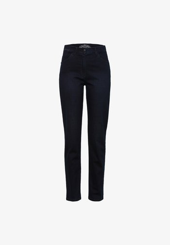 STYLE CORRY SLASH - Slim fit jeans - dark blue mit effekt