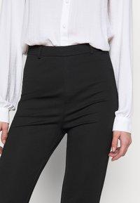 Even&Odd Tall - FLARED PUNTO PANTS - Leggings - Trousers - black - 4