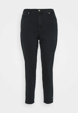 HIGH RISE SKINNY ANKLE - Jeans Skinny Fit - denim black