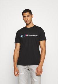 Puma - BMW MMS LOGO TEE - Print T-shirt - black - 0