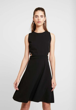 WAIST CUT OUT MIDI DRESS - Cocktail dress / Party dress - black