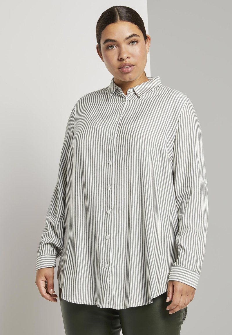 MY TRUE ME TOM TAILOR - Button-down blouse - offwhite rosin stripe