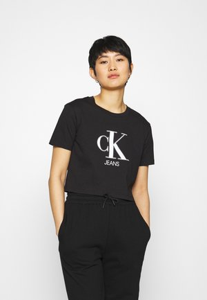 MONOGRAM LOGO TEE - Print T-shirt - black