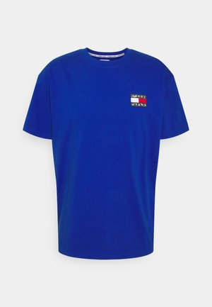 WASHED TOMMY BADGE TEE - Print T-shirt - providence blue