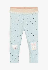 Next - BUNNY EMBROIDERED - Leggings - Trousers - blue - 0