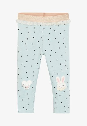 BUNNY EMBROIDERED - Leggings - Trousers - blue