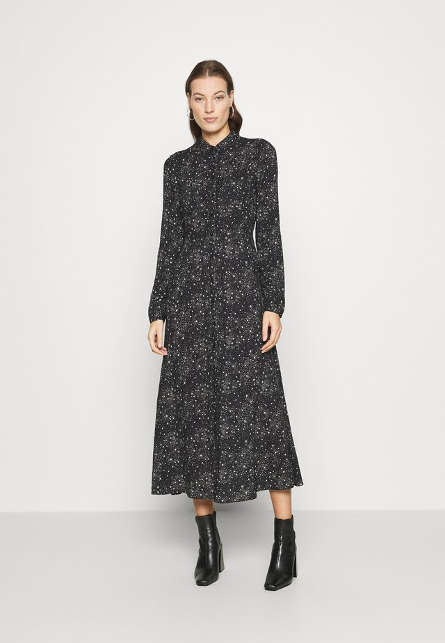 PRINTED DRESS - Shirt dress - black