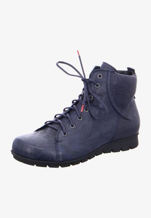 MENSCHA - Lace-up ankle boots - navy