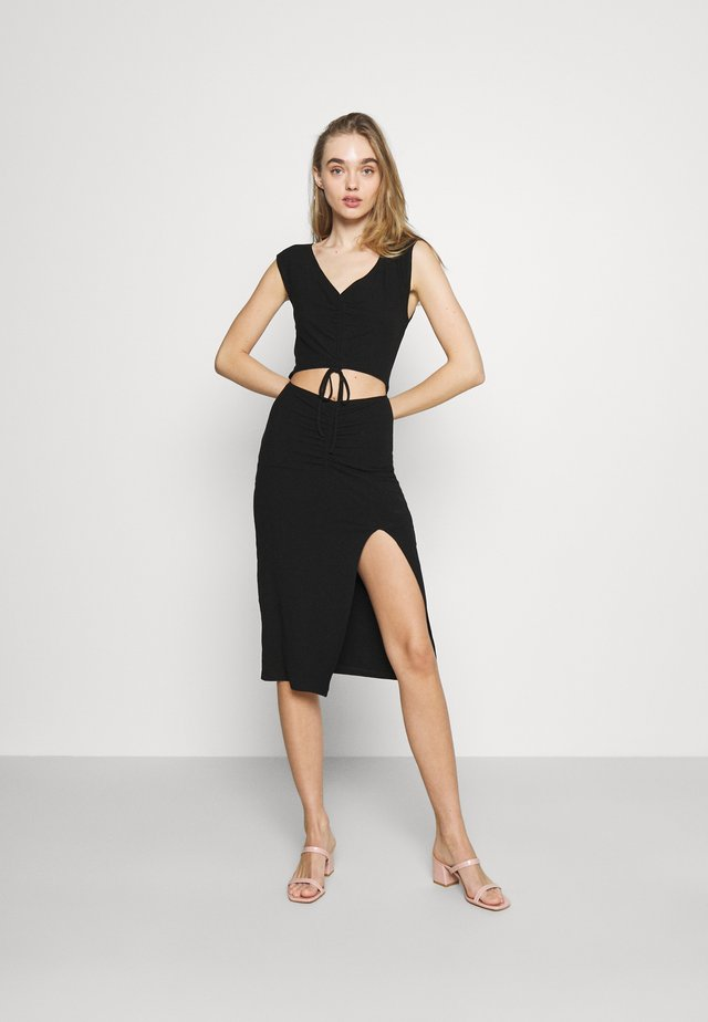 JETT DRESS - Korte jurk - black