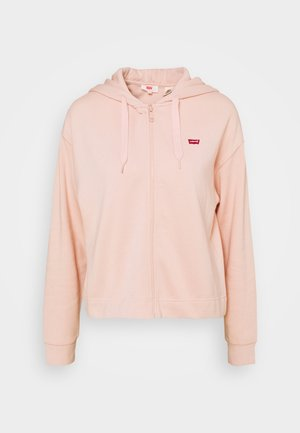 ZIP SKATE HOODIE - veste en sweat zippée - sepia rose