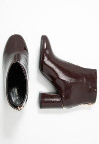 Dorothy Perkins Wide Fit - WIDE FIT AFAR HEEL BACK ZIP - Ankle Boot - oxblood - 3