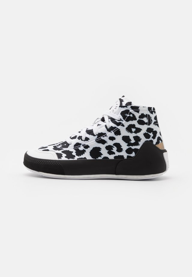 ASMC TREINO MID PRINTED - Kuntoilukengät - footwear white/core black/cloud white