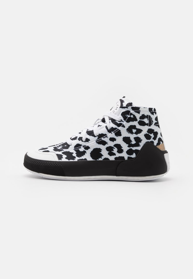 adidas by Stella McCartney - ASMC TREINO MID PRINTED - Sportovní boty - footwear white/core black/cloud white
