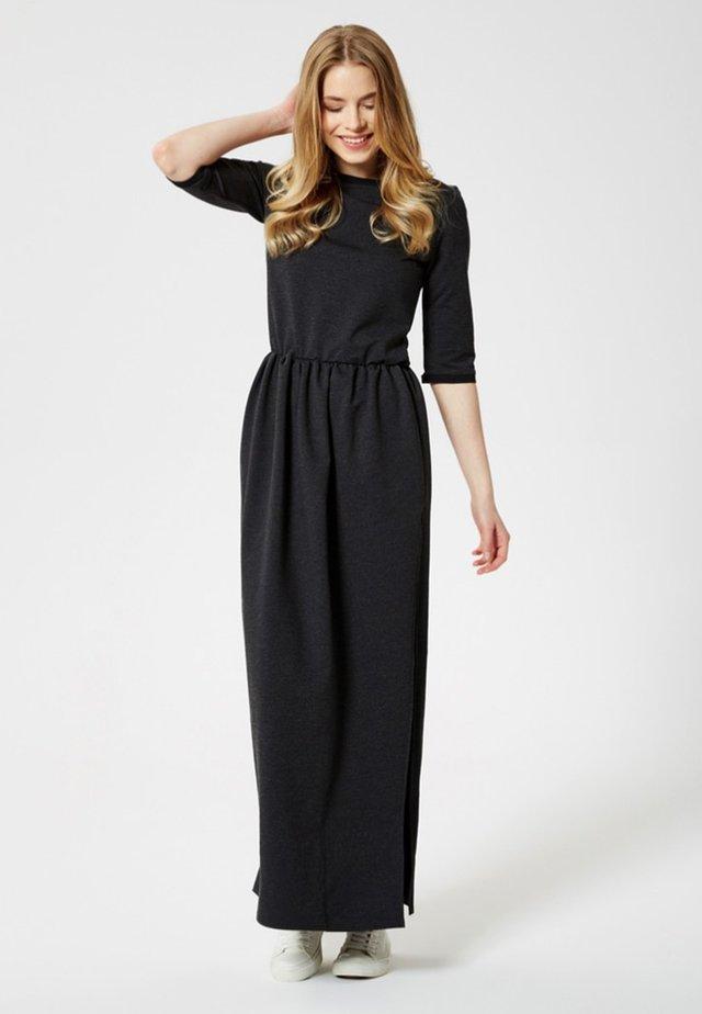 Maxi šaty - graphite melange
