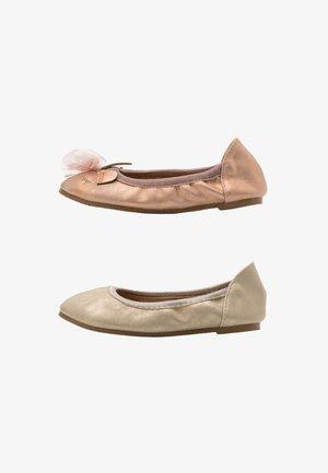 PRIMO BALLET FLAT 2 PACK - Ballet pumps - matte rose/gold shimmer