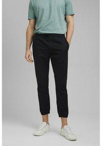 Esprit Collection - FASHION - Tracksuit bottoms - black - 0
