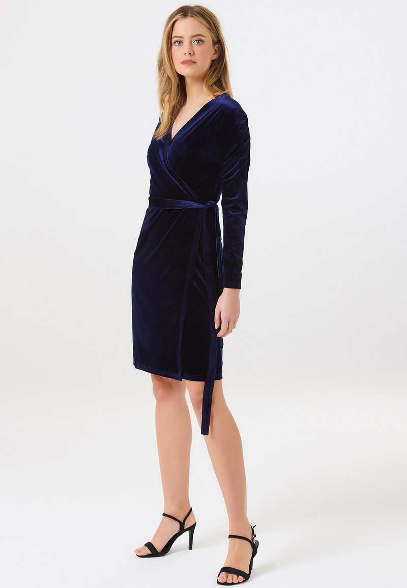 Sugarhill Brighton - WRAP DRESS BRONWYN RUCHED DETAIL - Day dress - navy