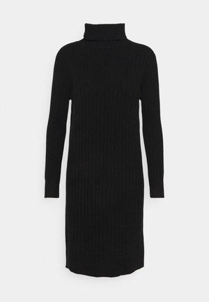 TURTLENECK DRESS - Neulemekko - black
