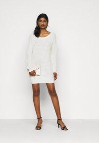 Missguided Petite - AYVAN OFF SHOULDER DRESS - Jumper dress - white - 1