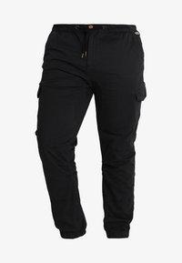 INDICODE JEANS - LEVI PLUS - Pantaloni cargo - black - 4