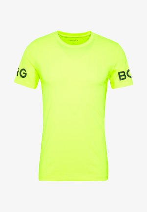 TEE - T-shirt med print - safety yellow