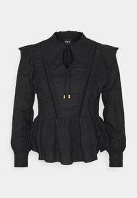 ONLY - ONLRWANDA LIFE FRILL BLOUSE - Blouse - black - 0