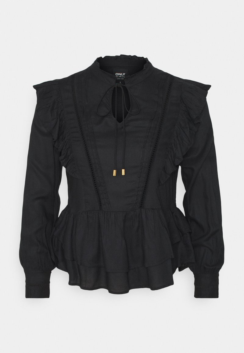 ONLY - ONLRWANDA LIFE FRILL BLOUSE - Blouse - black