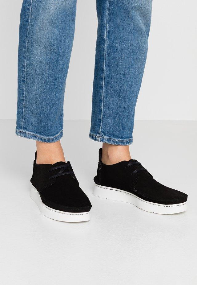 SEVEN - Zapatos con cordones - black