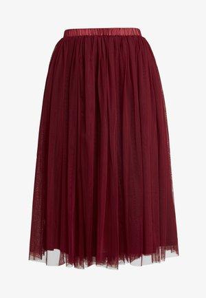 VAL SKIRT - A-line skjørt - burgundy