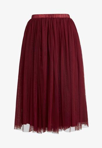 VAL SKIRT - Spódnica trapezowa - burgundy
