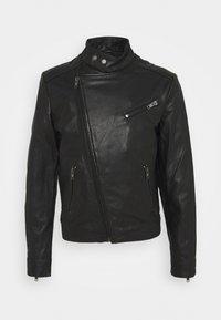 KANNON - Leather jacket - black