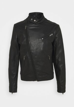 KANNON - Kožená bunda - black