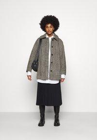 Weekday - CARLI JACKET - Short coat - black/white - 1
