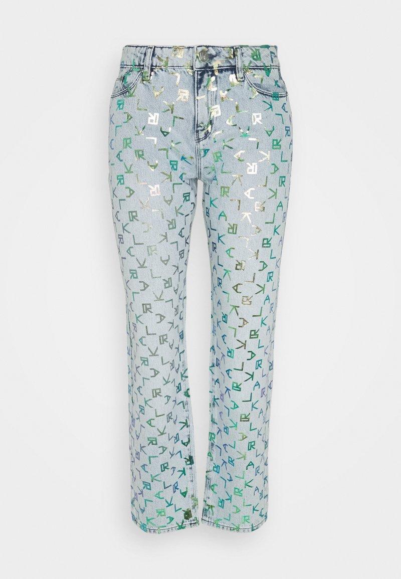 KARL LAGERFELD - TETRIS - Straight leg jeans - blue denim