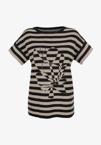 Laura Kent - Print T-shirt - schwarz lichtgrau - 2