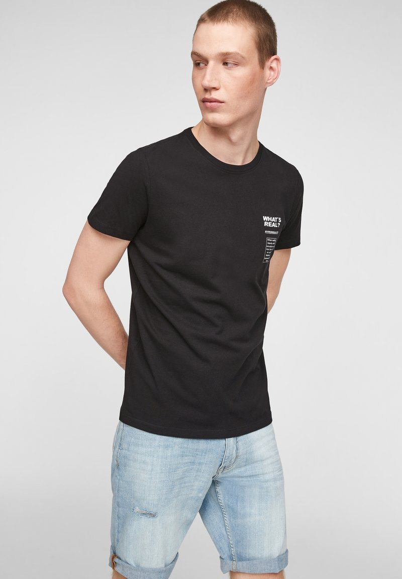 Q/S designed by - Print T-shirt - black
