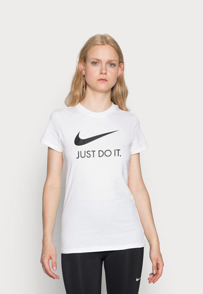 Nike Sportswear - W NSW TEE JDI SLIM - T-shirt imprimé - white/black