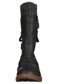 Rieker - Stivali con i lacci - black/grey - 2