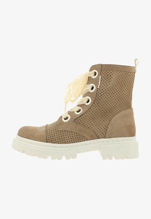 Platform ankle boots - beige/taupe
