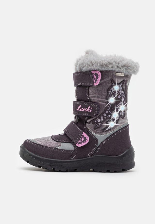 KATINKA SYMPATEX - Zimní obuv - aubergine