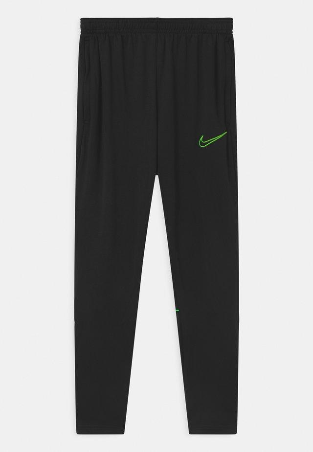 UNISEX - Pantalon de survêtement - black/green strike