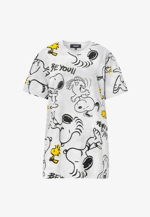 SNOOPY - Print T-shirt - black