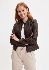 DeFacto - Faux leather jacket - brown - 0