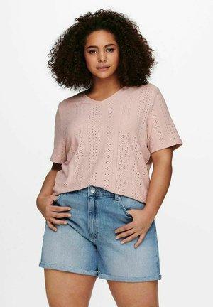 Print T-shirt - adobe rose