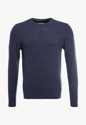 Pullover - motled dark blue