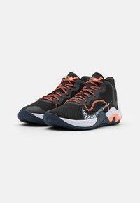Nike Performance - RENEW ELEVATE - Basketball shoes - black/bright mango/thunder blue - 1