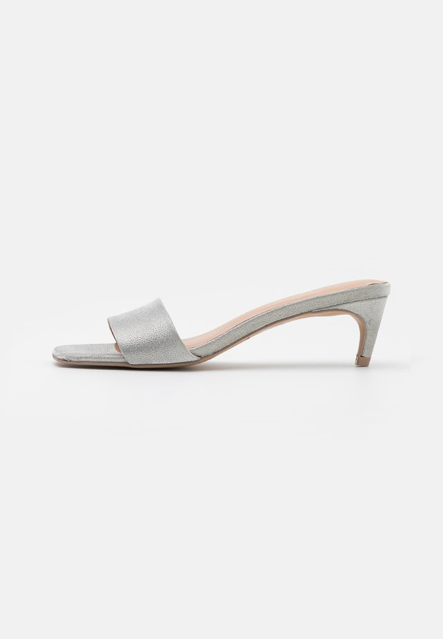AABELLA - Heeled mules - silver