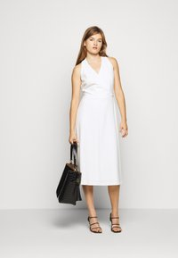 Lauren Ralph Lauren - LUXE TECH DRESS WITH TRIM - Day dress - cream - 1