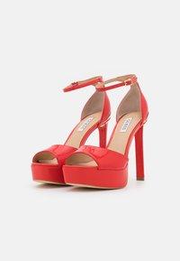 Guess - ALDEN - Platform sandals - red - 2