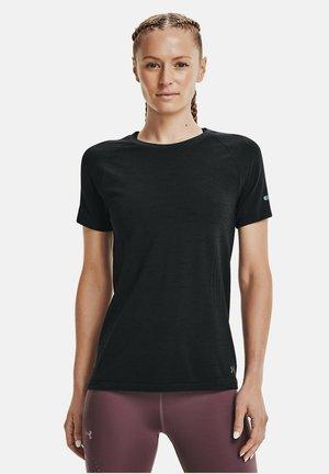 UA SEAMLESS  - Print T-shirt - black
